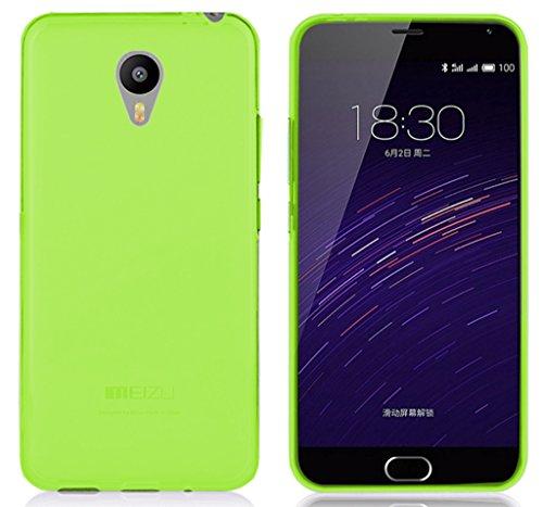 TBOC® Grün Gel TPU Hülle für Meizu M2 Note (Meilan Note 2) Ultradünn Flexibel Silikonhülle