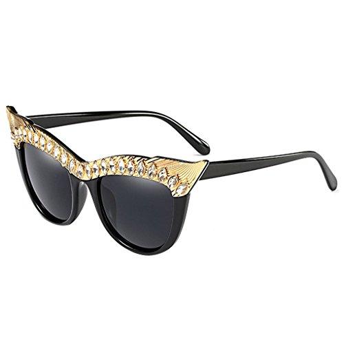 Babysbreath17 Strass-Dekor Mode Frauen-Mädchen-AC-Objektiv-Sonnenbrille UV400 Schutz Brillen PC-Metallrahmen-Außen Brillen Brillen C5#