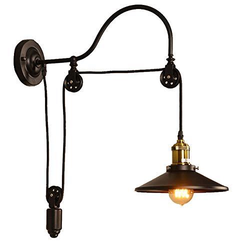 Wandlampe Retro Antik Industrie Wind Design Riemenscheibe LED Wandleuchter Wandlight Wandstrahler...
