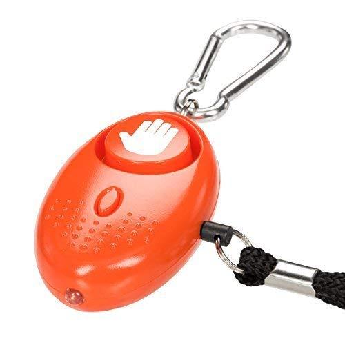 tiiwee Taschenalarm Panikalarm Selbstschutz 130dB mit LED Licht - Farbe Orange