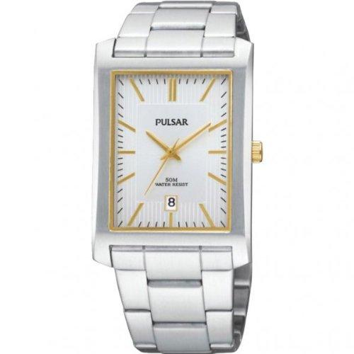 Pulsar PXDB33X - Reloj de caballero de cuarzo, correa de acero inoxidable color plata