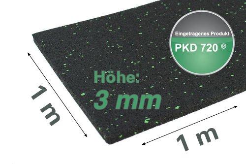PKD 720 Antirutschmatte Ladungssicherung Kofferraummatte 1,0 X 1,0 m, 3 mm stark