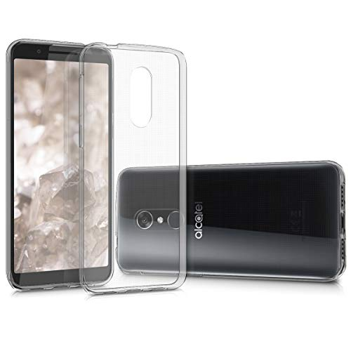 kwmobile Alcatel 3 / 3L (2018) Hülle - Handyhülle für Alcatel 3 / 3L (2018) - Handy Case in Transparent