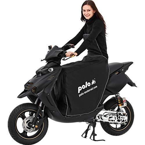 Polo Motorrad-Wetterschutz, Motorrad-Abdeckplane Beinschutz Roller universal Bein-/Wetterschutz Motorroller, Roller Regenschutz Motorroller, Nässeschutz, schützt vor Wind, Regen und Kälte