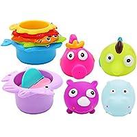 Newin Star Juego de juguetes de baño para bebé, goma, flotador, jabón de