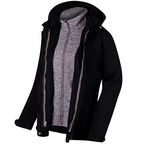 Regatta - Damen 3-in-1 Funktionsjacke, Wasserdicht und Atmungsaktiv, Calyn (RWP241), Größe:46, Farbe:Black