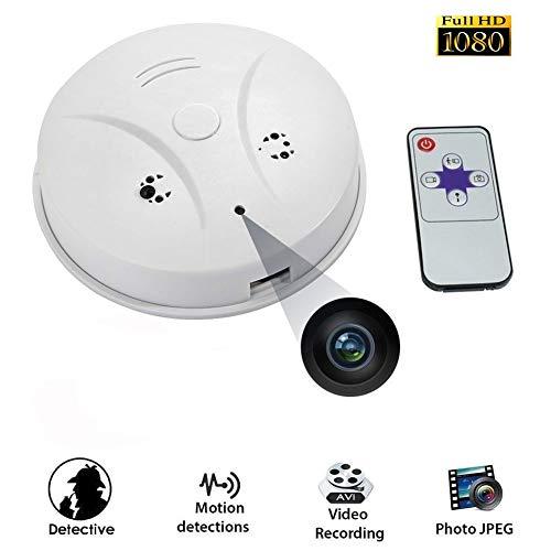 Telecamera nascosta,1080p rilevatore di fumo telecamera nascosta videocamera 72°con rilevatore di movimento visore notturno per telecamera di sorveglianza domestica