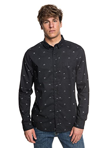 Quiksilver - Camisa Manga Larga - Hombre - L - Negro