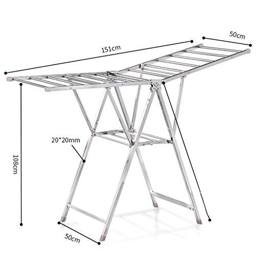Trockensäcke Landing Foldable Edelstahl Airfoil Indoor Balkon Mobile Baby Windel Handtuch Rack Hanger ( größe : #6 )
