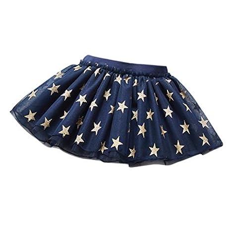 Kingko® Skirts for Girls Cute Baby Summer Girls Stars Printed Princess Skirt Party Dancing Tutu Gauze Skirt Dress (18-24 Months,