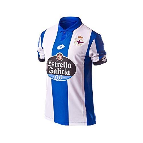 Lotto RC Deportivo De La Coruna Home 2016/2017 Camiseta, Hombre, Blue/Royal/White, L