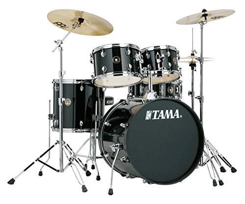 Tama RM50YH6-BK Rhythm Mate Schlagzeug Set (5-teilig) mit 50,8 cm (20 Zoll) Bassdrum inkl. dreiteiligem Beckenset/6-teiliger Hardware schwarz