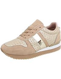 Ital-Design Damenschuhe Freizeitschuhe Sneakers Low