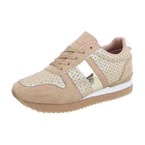 Zapatos para Mujer Zapatillas Plano Zapatillas Bajas Beige Tamaño 38