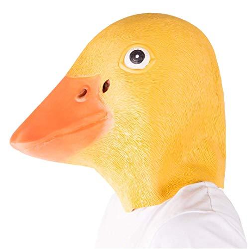 Kostüm Ente Gummi - Bodysocks - Latex Gummi Ente Tier Halloween Kostüm Maske