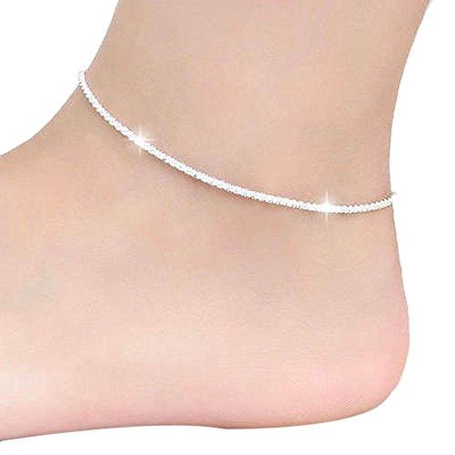 (DAY.LIN Schmuck Damen Fußkettchen Hanfseil Frauen Kette Knöchel Armband Barfuß Sandale Strand Fuß Schmuck)