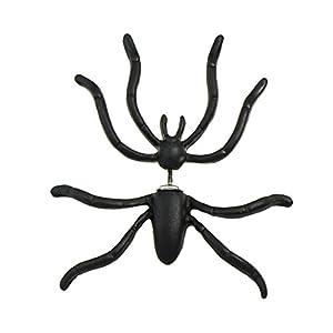 Feelontop® 1-tlg. Tattoo Womens Favourite Big Black Spider Shape Piercing-Ohrstecker mit Schmucktasche