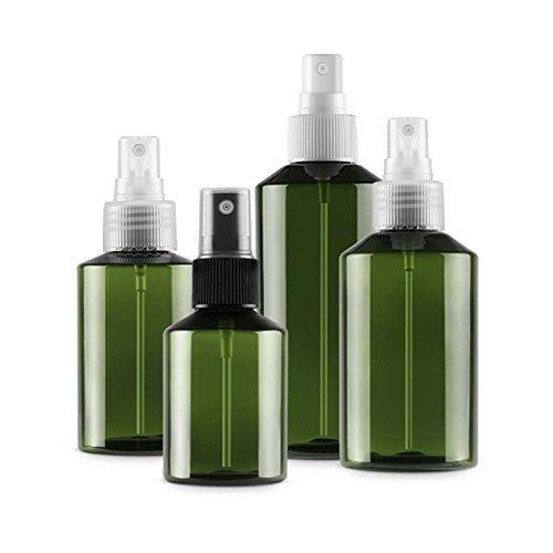 QJHP Glas Sprühflaschen Wiederverwendbar Mit Fine Mist Spray Trigger Nachfüllbarer Behälter Für Organische Ätherische Öle/Aromatherapieöle,4 Stück (Trigger-spray Mist)