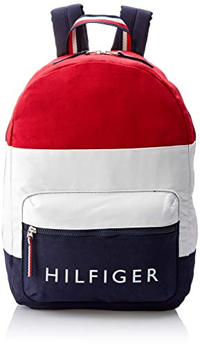 Tommy Hilfiger Rucksack, TH Signature Canvas Backpack, 40cm x 28cm x 13cm