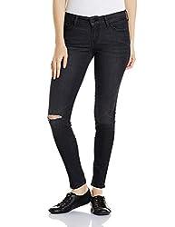 Levis Womens Skinny Jeans (21322-0016_Black_32W x 30L)