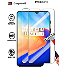 SuperdealsForTheinfinity [ 2 Pack ] Tempered Glass Screen Protector for One Plus 6T (Transparent) LL09L [2packTP]