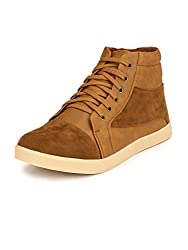 Prolific Men Tan Casual Sneakers (7, Tan)