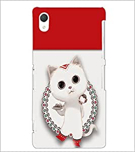 PrintDhaba Kitty D-4708 Back Case Cover for SONY XPERIA Z3 (Multi-Coloured)