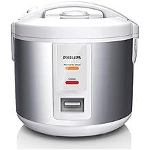 Philips Daily Collection HD3011/08 1L Plata, Color blanco - Arrocera (1,2 m, 500 W, 220-240, 50/60 Hz, 252 mm, 225 mm)