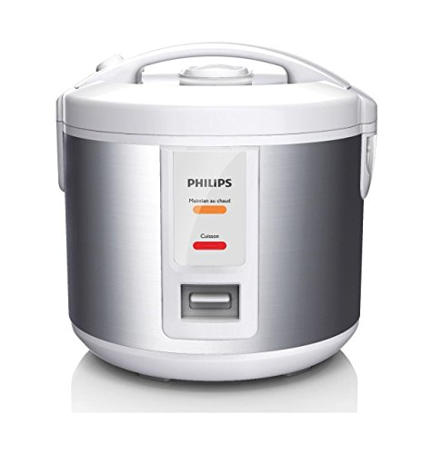 Philips Daily Collection HD3011/08 1L Plata, Color blanco - Arrocera (1,2 m, 500 W, 220-240, 50/60 Hz, 252 mm, 225 mm)