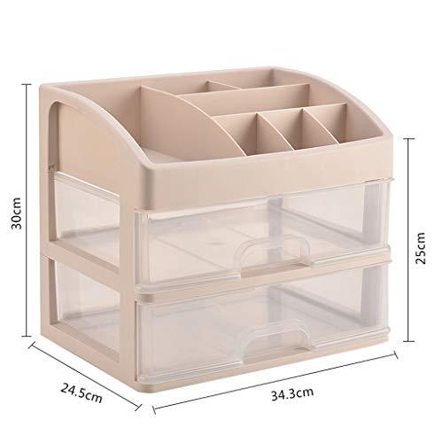 KKY-ENTER Boîte de rangement cosmétique transparente en plastique Type de tiroir de bureau Rouge à lèvres Bijoux Produits de soin de la peau Boîte de stockage Affichage (taille : 34.3 * 24.5 * 30cm)