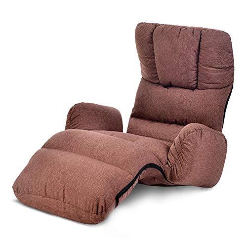 Dall Sitzsack Stuhl Lazy Nap Schlafsofa Falten Einstellbar Wohnzimmer Büro Lounge Chair Schwammkissen Metallskelett (Color : Brown) - Neue Bar Hocker Stuhl