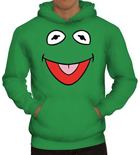 ShirtStreet Karneval Fasching Verkleidung Kapuzenpullover Gruppen & Paar Frosch Kostüm, Größe: XXL,Kelly ()