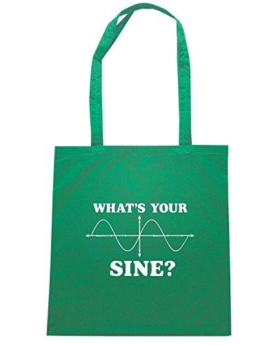 T-Shirtshock - Borsa Shopping FUN0193 07 31 2013 Whats Your Sine T SHIRT det Verde