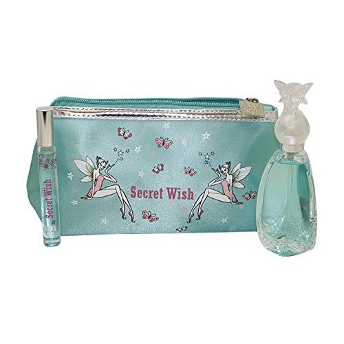 Parfum Anna Sui (Anna Sui Secret Wish Eau de Toilette 50 ml & 10 ml Edt Rollerball Geschenkset für Damen)