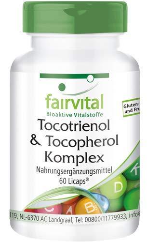 Tocotrienol-Tocopherol Komplex - HOCHDOSIERT - 60 LiCaps® - natürliches Vitamin E aus Ölpalmen-Extrakt (Vitamin-e-tocotrienol)