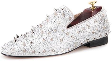 Handcrafted Leather Loafers with Spikes  En línea Obtenga la mejor oferta barata de descuento más grande