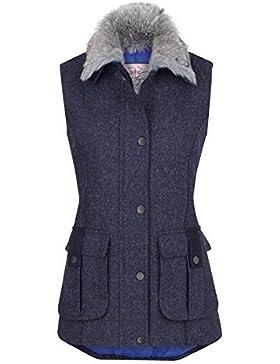 Jack Murphy Womens/Ladies Jilly British Tweed Country Bodywarmer Gilet - Azul Marino, 8