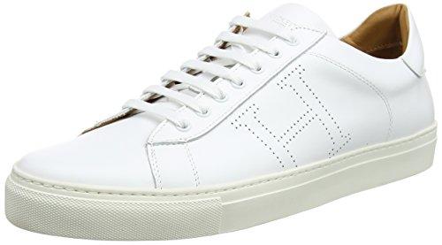 Hackett Basic Blucher, Zapatos de Cordones Derby para Hombre, Blanco (White), 43 EU