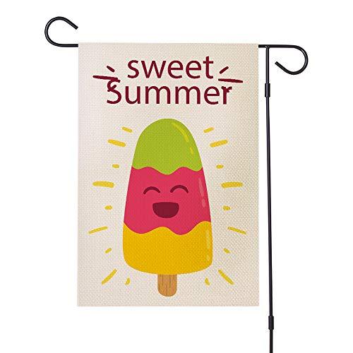Happy Summer Garden Flag wasserdichte Verschlüsselung Leinen,c (Garden C Flag)