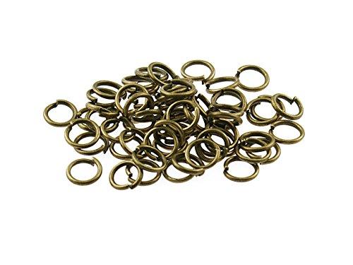 100 Biegeringe in antik Bronze, 6 mm von Vintageparts, DIY-Schmuck