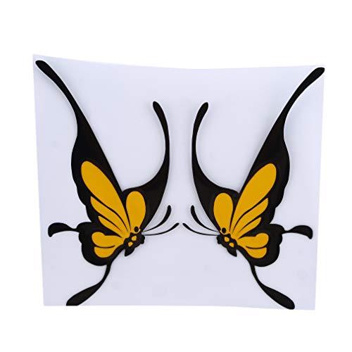 Yinew Schmetterling Form Auto Aufkleber Auto Stoßstange Dekoration Aufkleber Kratzer Schmutz Abdeckung Home Wand Zubehör, Gelb (Gelbes Schmetterlings-wand-aufkleber)