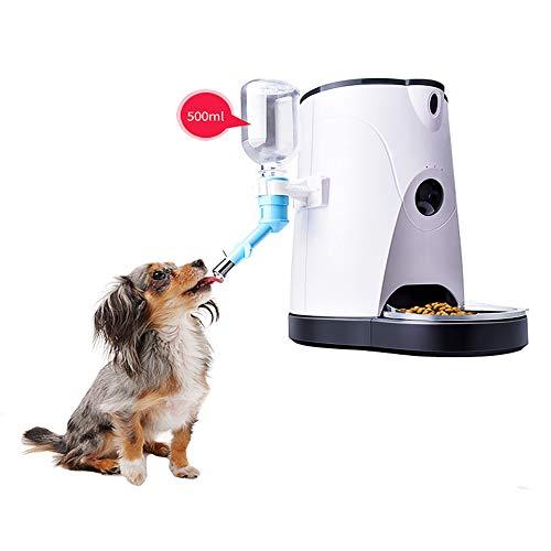 Liyanan Automatische Haustierfütterungsmaschine, Katze, Welpe, Hund, zeitgesteuertes quantitatives Video, intelligente Überwachung, Fütterungsgerät Haustierpartner (Farbe: Weiß) Tragbare Video-Überwachung