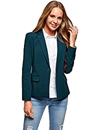 oodji Collection Damen Klassischer Taillierter Blazer
