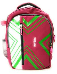 Stylish Polyster Multipurpose Back Pack / Collage Bag / School Bag Pink And Green For Boy / Mens / Girls By Must...