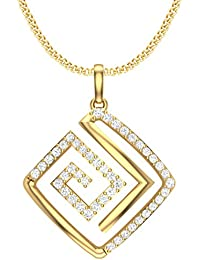 Clara Silvo 18K Gold Plated Sterling Silver Heva Pendant With Chain For Women