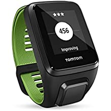 TomTom Runner 3 Cardio+Music+Auriculares, Reloj cardio, música y auricular, Negro/Verde, L (Grande)