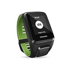 Idea Regalo - TomTom Runner 3 Cardio+Music Orologio GPS con Auricolare Bluetooth, Cardiofrequenzimetro Integrato, Lettore Musicale Integrato, Cinturino Large, Nero/Verde
