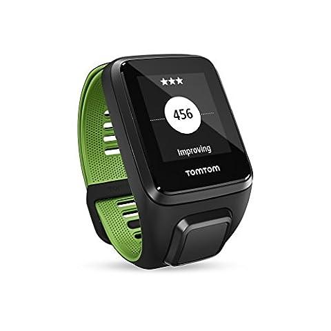 TomTom Runner 3 Cardio + Musik GPS-Sportuhr Inkl. Bluetooth Kopfhörer (Routenfunktion, 3GB Speicherplatz für Musik, Eingebauter Herzfrequenzmesser, Multisport-Modus, 24/7