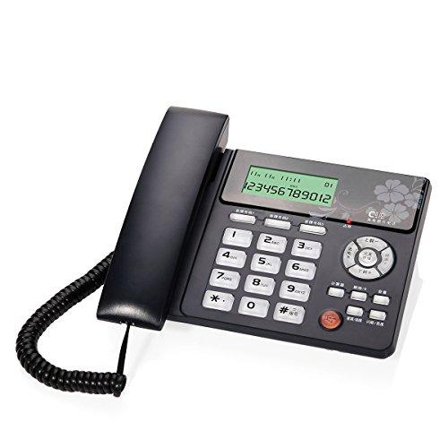 Schnurgebundenes Funktelefon mit Freisprecheinrichtung Anrufer-ID / Anrufspeicher Rücklicht Sprachreportnummer Großer Bildschirm Großer Knopf Platz für Wohnzimmer Schlafzimmer Flur Treppe Badezimmer Studie ( Farbe : Weiß - Kunden-id-nummer