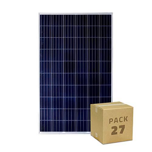 Este Panel solar Policristalino 275W está formado por células de silicio policristalino que generan una destacada tensión eléctrica máxima de 32V. El Panel Solar Fotovoltaico Policristalino 275W pertenece a la Clase A de calidad de paneles Fotovoltai...
